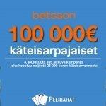 100 000 euroa käteistä Betssonilla
