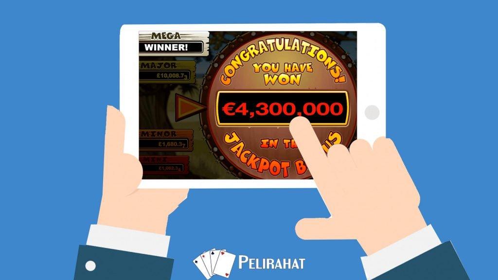 4,3 miljoonan voitto Mega Moolahista